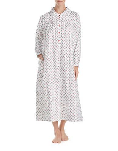 Lanz Of Salsburg Ballet Cherry Cotton Sleepwear Gown-RED BUDS-Small