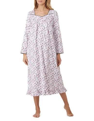 Eileen West Ballet Long Sleeve Nightgown-LEAF PORT-Large
