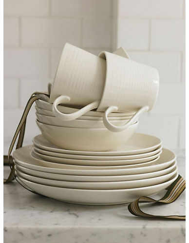 Gordon Ramsay Maze 16 Piece Set White Dinnerware Set-WHITE-One Size