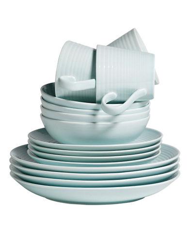 Gordon Ramsay Maze 16 Piece Blue Dinnerware Set-BLUE-One Size