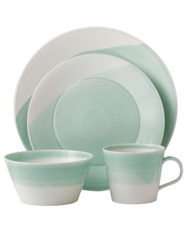 Royal Doulton 1815 4 Piece Place Setting  Green-GREEN-One Size 85212482_GREEN_One Size