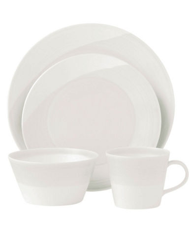 Royal Doulton 1815 4 Piece Place Setting  White-WHITE-One Size