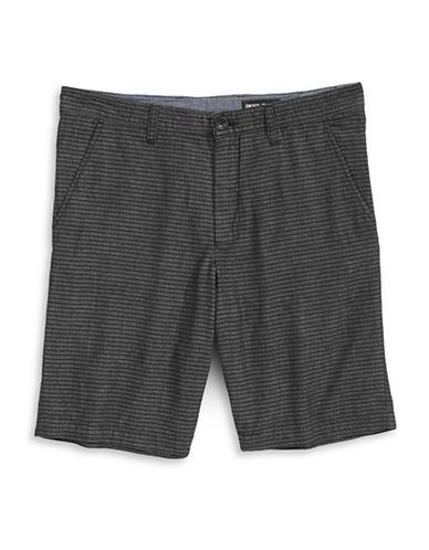 Dkny Jeans Striped Chambray Shorts-BLACK-36