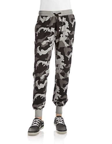 Dkny Jeans Camo Printed French Terry Pants-GREY-X-Large