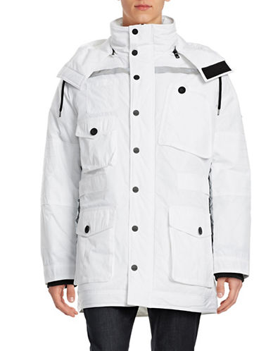 Dkny Jeans Memory Twill Expedition Parka-WHITE-Large