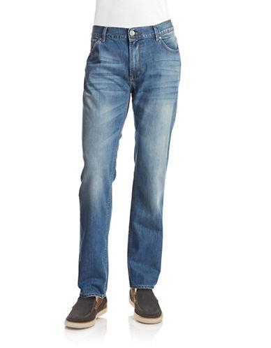 Dkny Jeans Bleecker Straight Leg Jeans-LIGHT WASH-36X32