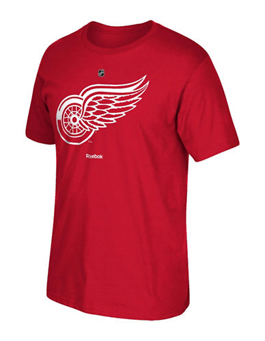 Reebok Detroit Red Wings Youth Primary Logo Tee-RED-Large