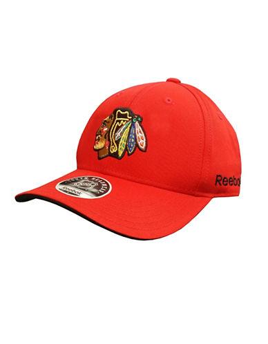 Reebok Chicago Blackhawks Youth Core Logo Adjustable Cap-RED-One Size
