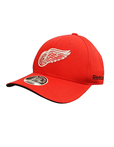 Reebok Detroit Red Wings Youth Core Logo Adjustable Cap-RED-One Size