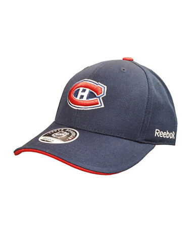 Reebok Montreal Canadiens Youth Core Logo Adjustable Cap-BUE-One Size
