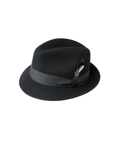 Bailey Hats Tino Classic Wool Fedora-BLACK-X-Large