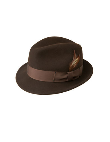 Bailey Hats Tino Classic Wool Fedora-BROWN-Large