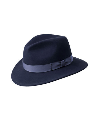 Bailey Hats Curtis Wide Brim Wool Hat-NAVY-Medium