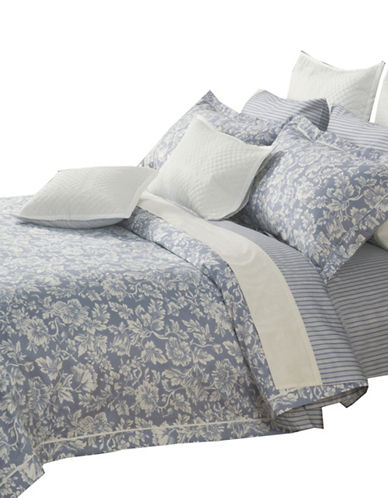 North Home Three-Piece Hampton Duvet Cover Set-BLUE-King