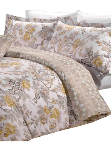 North Home Eight-Piece Adele Duvet Cover Set and Sheet Set-YELLOW-Queen