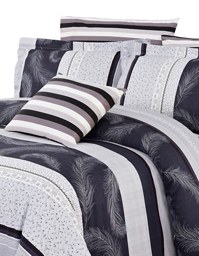 North Home Bright Four-Piece Duvet Cover Set-GREY-Twin