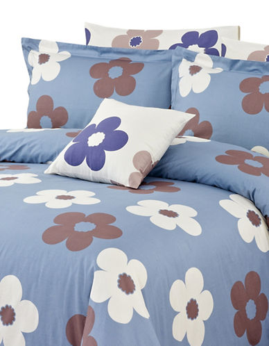 North Home Isabelle Four-Piece Duvet Cover Set-BLUE-King