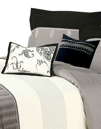 North Home Quinn Five-Piece Duvet Cover Set-GREY-King