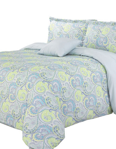 North Home Cheery Four-Piece Duvet Cover Set-BLUE-King