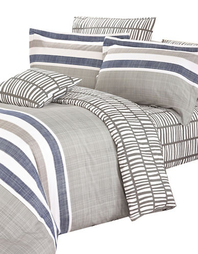 North Home Milton Four-Piece Duvet Cover Set-GREY-Queen