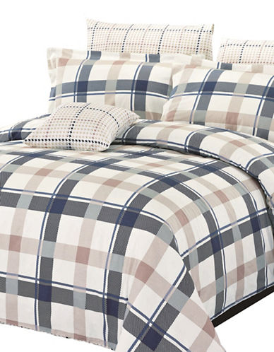 North Home Four-Piece Burton Duvet Cover Set-MULTI-Queen