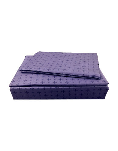 North Home Mystery Cotton Four-Piece Sheet Set-PURPLE-Queen