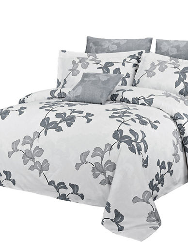 North Home Four-Piece Serenity Duvet Cover Set-GREY-King