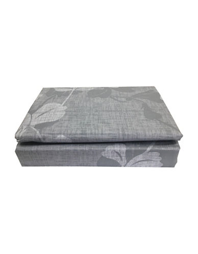 North Home Serenity Cotton Four-Piece Sheet Set-GREY-Queen