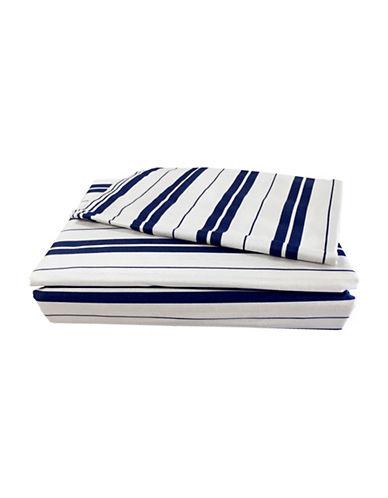 North Home Steward Cotton Four-Piece Sheet Set-BLUE-Queen