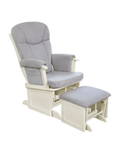 Eddie Bauer Glider and Ottoman-WHITE-One Size