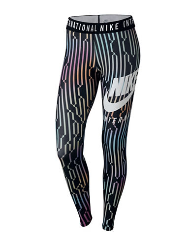 Nike International Leggings-BLACK-Large