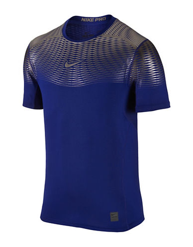 Nike Pro Hypercool Fitted T-Shirt-DEEP ROYAL-Large 88595391_DEEP ROYAL_Large