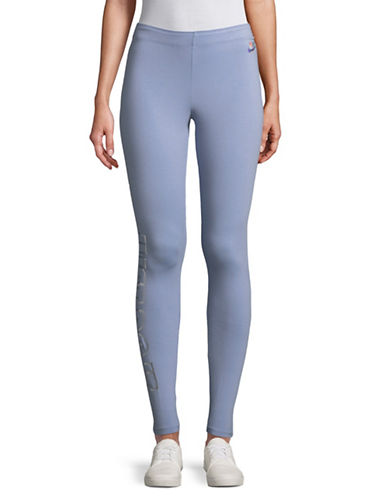 Nike Club Metallic Leggings-BLUE-X-Large