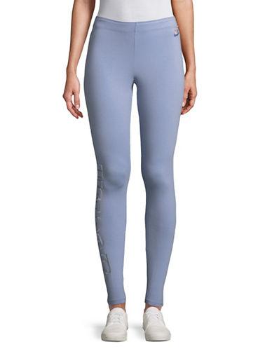 Nike Club Metallic Leggings-BLUE-Large
