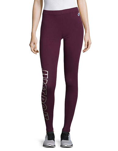 Nike Reflective Logo Leggings-RED-Medium 89655582_RED_Medium