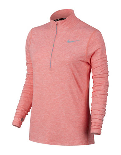 Nike Element Half Zip Sweatshirt-MELON-X-Small