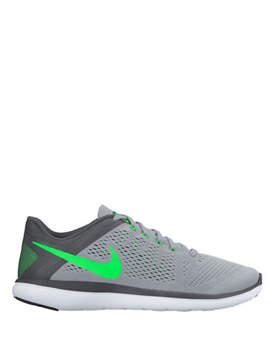 Nike Flex Perforated Flywire Sneakers-GREY-10 88582844_GREY_10