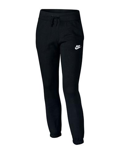 Nike Sporty Joggers-BLACK-X-Small