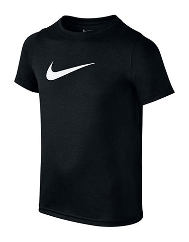 Nike Swoosh Dry Training Tee-BLACK-Large