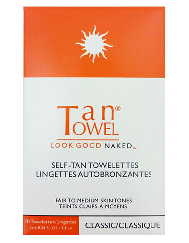 Tan Towel Self-Tan Towelettes Ten-Pack Classic-NO COLOUR-One Size