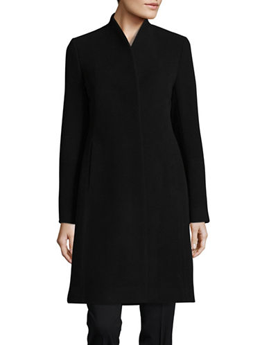 Hiso Button Sleeve Wool-Cashmere Coat-BLACK-8