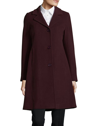 Hiso Wool-Cashmere Button-Cuff Reefer Coat-PURPLE-16