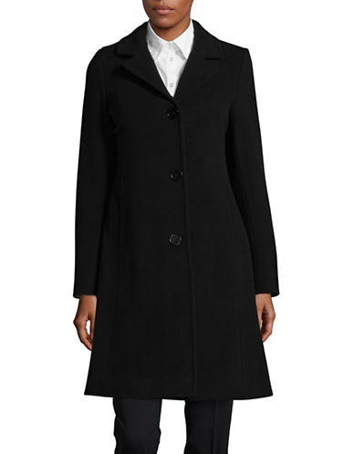 Hiso Wool-Cashmere Button-Cuff Reefer Coat-BLACK-4