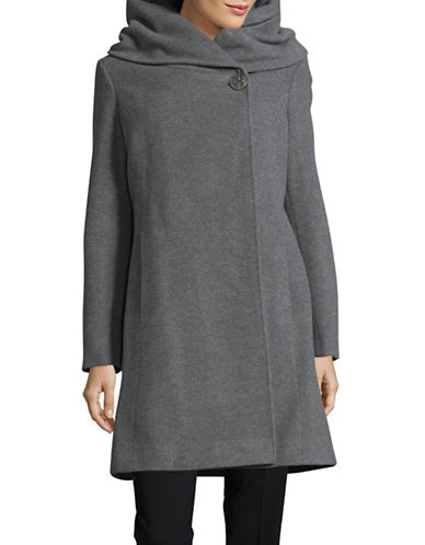 Hiso Wool-Cashmere Hourglass Button-Front Coat-GREY-4