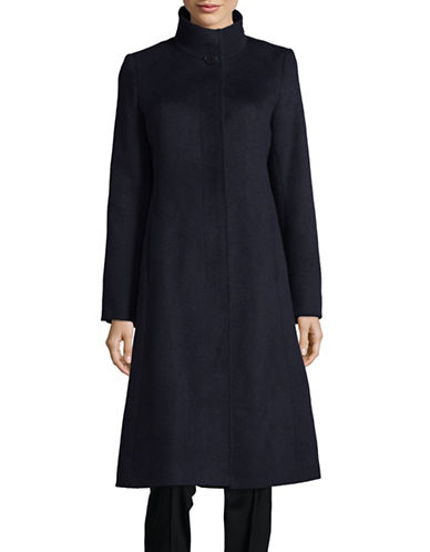 Hiso Slim-Fit Wool-Blend Woven Coat-BLUE-6