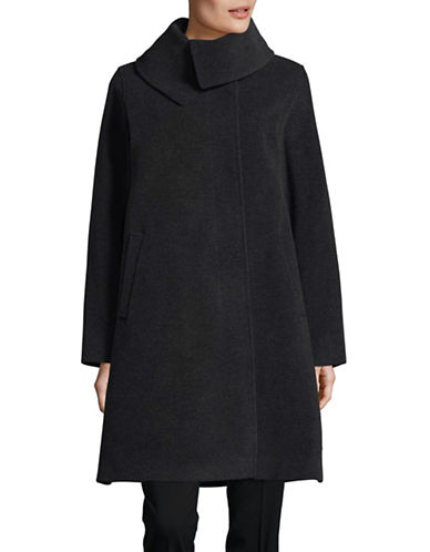 Hiso Wool-Cashmere Relaxed A-Line Coat-GREY-8
