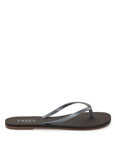 Tkees Silver Anchor Flip-Flops-SILVER-8