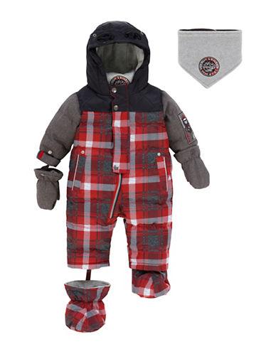 Deux Par Deux Frozen Bud Lumberjack One-Piece Snow Suit-MULTI-COLOURED-2