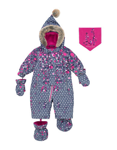 Deux Par Deux Frozen Bud One-Piece Snow Suit-BLUE-18 Months