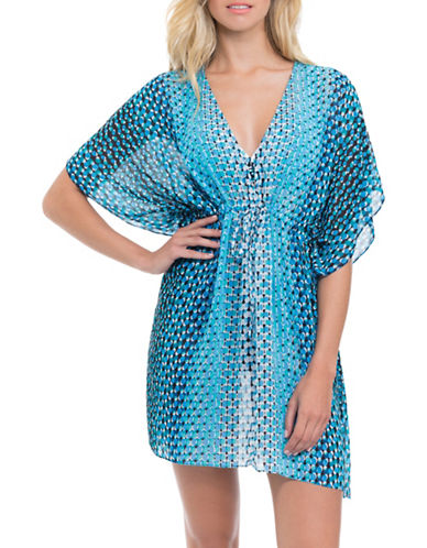 Profile By Gottex Cocoon Chiffon Tunic-BLUE-X-Large plus size,  plus size fashion plus size appare